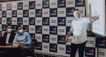 Governador Renan Filho apresentou análise epidemiológica à imprensa